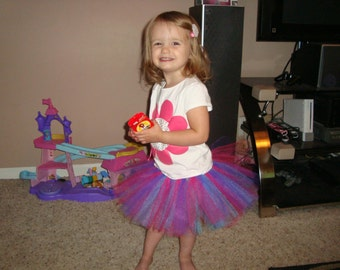 Abby Cadabby inspired tutu skirt, great for birthdays, costumes, or dress up!