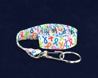 Multi Colored Ribbon Lanyard (RE-LAN-MC)