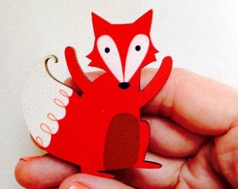 Mr. Fox brooch