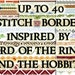 Pattern Middle Earth Borders for Cross Stitch