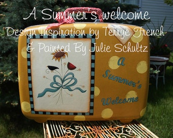 A Summers Welcome_Julie Schultz, Painting With Friends E Pattern
