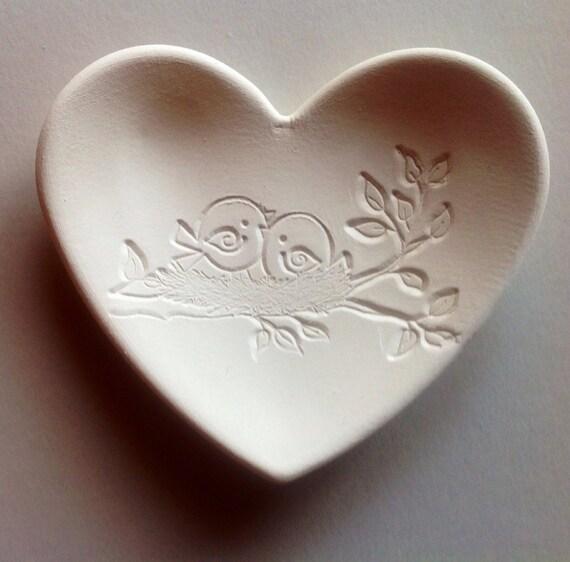 Porcelain Wedding Favors: Wedding Favor Ceramic Heart Bridesmaids Favor Ring Dish