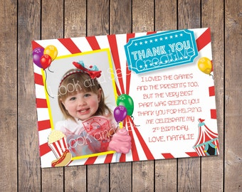 Carnival Thank You (Custom-Digital File)