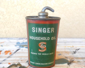Vintage Singer Household oil Can