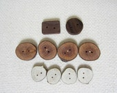 10 Handmade Wooden Buttons - Tree Branch Buttons - 10 Buttons