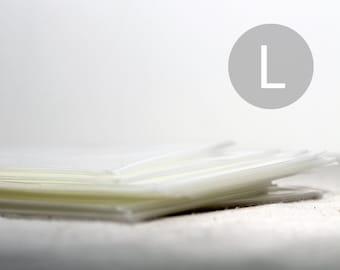 "100 A7 Translucent / Transparent / Cellophane Bags - Clear Self-Seal Envelopes -  5 7/16"" x 7 1/4"""