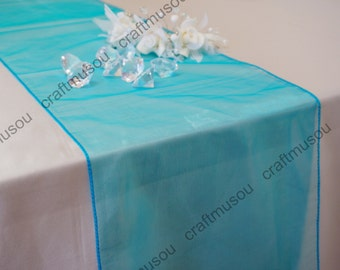 "Bulk 12"" x 108"" (Inch) Organza Table Runner for Wedding Shower Banquet 20 Colors+"
