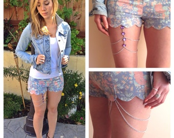 Purple Love Thigh Chain