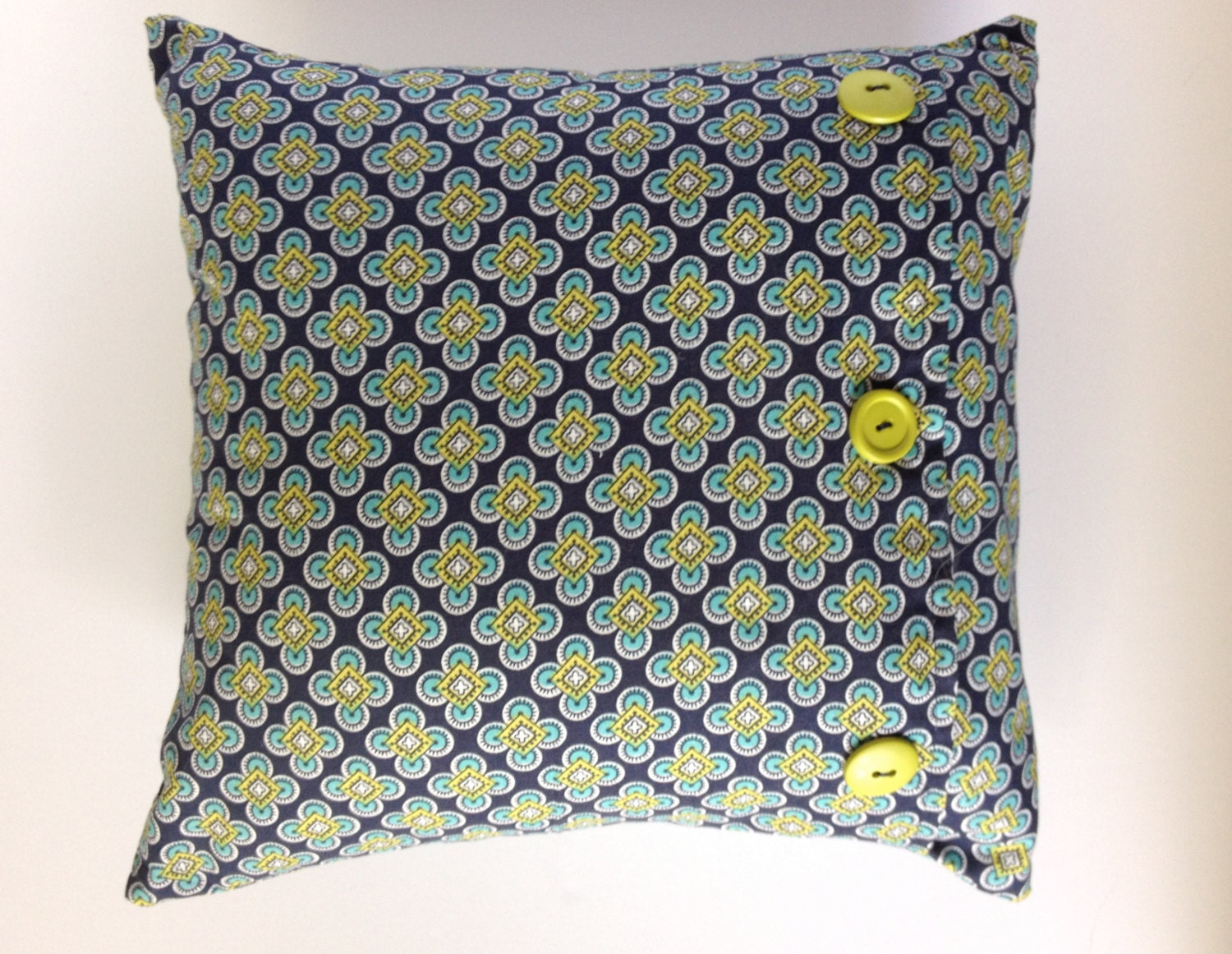 Navy Blue And Green Throw Pillows : Item Details
