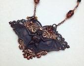 Victorian Bat Necklace