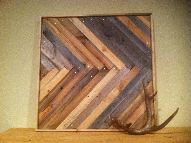 Chevron Wood Wall Decor : Chevron herringbone wood wall hanging by ponderosatexas on