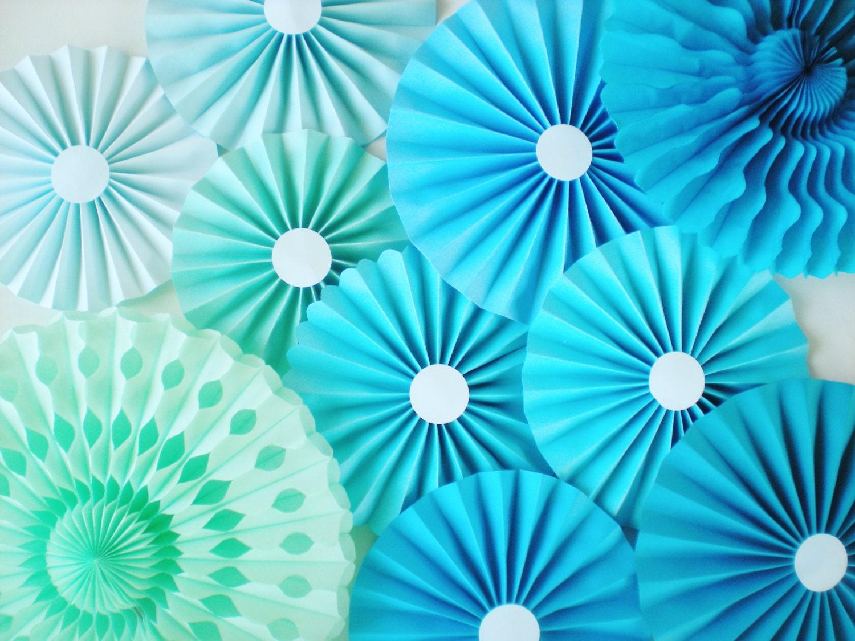 Blue ombre pinwheel backdrop aqua light blue mint green - Light blue and mint green ...