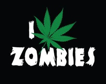"""Zombie Cloth Patch - I Weed Zombies - 4.5"""" X 5"""" Cloth Patch"""