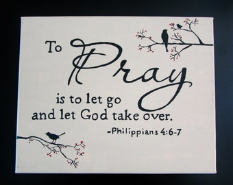 Canvas Painting - Let Go and Let God