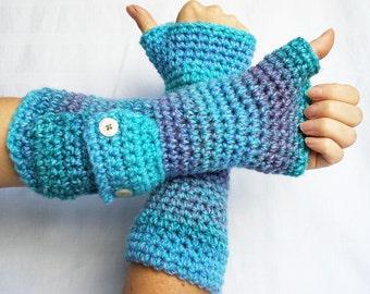 Pouch wrist warmers crochet pattern PDF