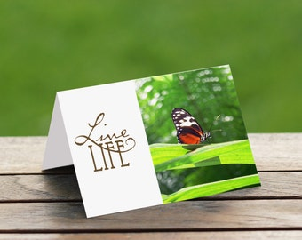 Butterfly Inspirational Nature Photo Card
