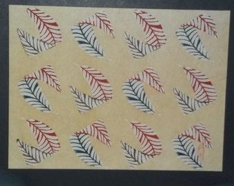 Japanese hand stenciled dyed print by Samiro Yunoki apprentice to Keisuke Serizawa Nationa; Living Treasure, now deceased.