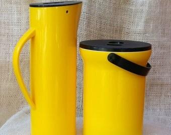 SALE-Mikasa Yellow Ice Bucket and pitcher set