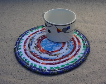 8'' Round Fabric Coiled Mat