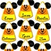 MAGNETS Small Candy Corn (4-9) - Mickey & Minnie Versions! - Stateroom Door Magnets - Fish Extender Gifts