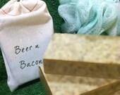 Beer 'n' Bacon all natural exfoliating handcut bar soap