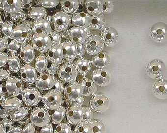 Sterling Silver 6mm Seamless Plain Rondelle Spacer Beads, Choice of Quantity