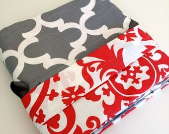 Duvet Cover Reversible Coral and Gray  Dorm Twin, Twin Full / Queen King / Cal King