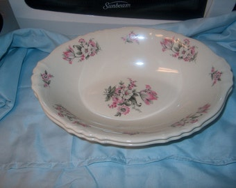 2 Vintage Dinnerware  Aberdeen China Oval Bowls, Price for both, WAS 25.00 - 25% = 18.75