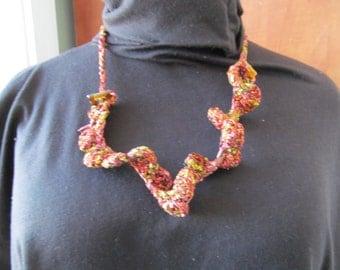 Handmade crochet necklace