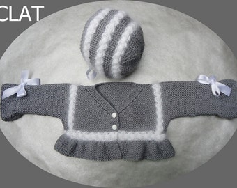 special offer, 20% off, sale, knitted angora, merino baby set,  bonnet and sweater
