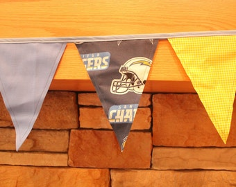 Fabric Banner - Fabric Bunting - NFL San Diego Chargers – SD Chargers - Version 1