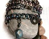 Bracelet / Necklace Set - Repurposed Two Piece Parure - ReTainReUse