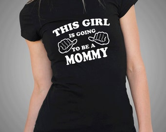 Gift For New Mommy Mom Mother Birth Announcement Tee Shirt