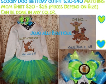 Boy and Girl Custom Scooby Doo Shirts, Onesies, Tutus, and Bows