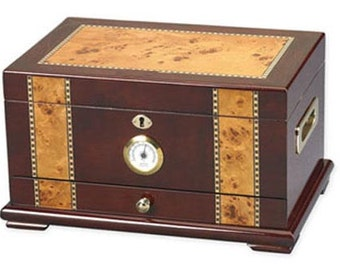 Personalized Humidor, The Solana Rosewood 75-100 Cigar Humidor, Father's Day Gift