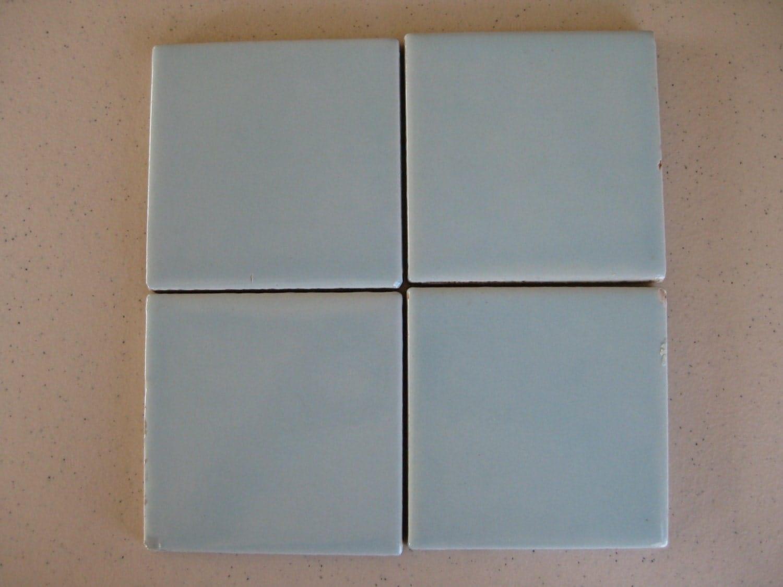 25-Powder Blue Mexican Clay Rainbow Tile 4x4 Shipping