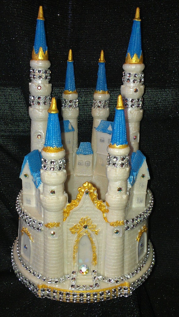 Wedding Cake Topper Large Cinderella Castle By BeautifulCreations7