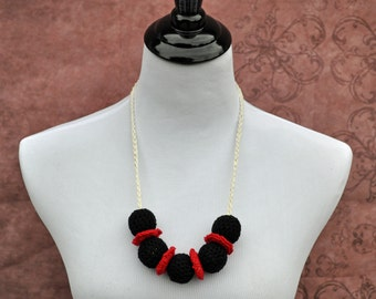 Teething Necklace - Black and Red - Baby Accessories