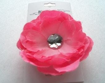 Pink Hair Flower clip, accessories, hair flower clip, girls hair flower, children, pretty petite hair flower, toddler, girls, Easter