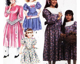 Simplicity Sewing Pattern 7404 Girls' and Child's Dress with collar variations  Size  AA  3-6  Used
