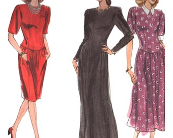 Vogue Sewing Pattern 2381 Misses' Petite Dress Size:  6-8-10  or  12-14-16  Used