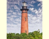 Currituck lighthouse Outer Banks Photograph North Carolina seascape fine art matted picture interior wall decor Coastal Print
