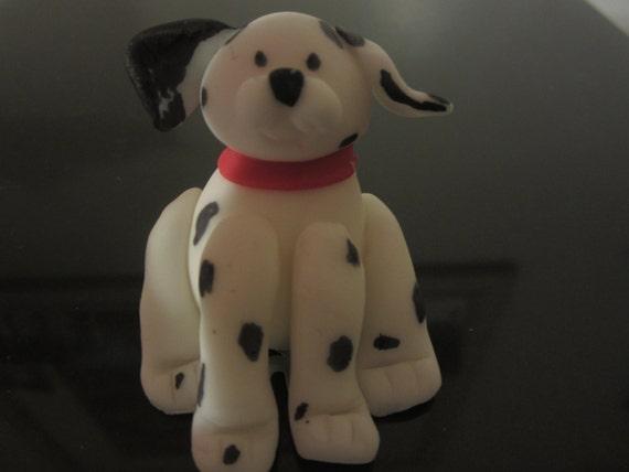 Edible Dog Cake Decoration : Edible Dalmation/ Fire Dog Cake Topper