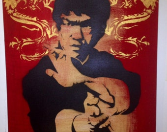 Bruce Lee Enter The Dragon Kung fu Art on Canvas