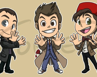 Doctor Who Chibi Sticker Set