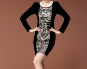 009.Semi Formal Black Dress Ruffle Lace Decorate Patchwork Graceful Cocktail Club Dress S M L XL XXL