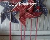 Primitive Pattern - Old Fashioned Pinwheels E-Pattern - Pinwheels Pattern - Pinwheels E-Pattern  - Americana Pinwheels E-Pattern