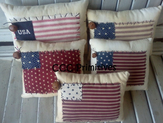 Americana handmade usa pillow handmade americana pillow for Home decor online shopping usa