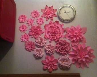 Pink Paper Flowers - Wall Backdrop - Breast Cancer Awareness Month