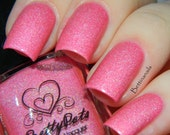 Strawberry Crêpe by Prettypots Polish - Core Collection - 12ml Handmixed Holographic Aussie Indie Nail Polish Lacquer